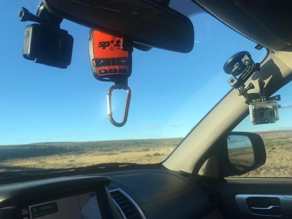 Imagem das Câmeras usadas durante a viagem de carro