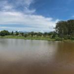 Imagem do Lago ao Fundo do Leite na Pista a caminho de Campos do Jordão