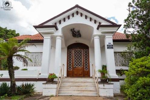 Imagem da entrada do museu da Xilogravura