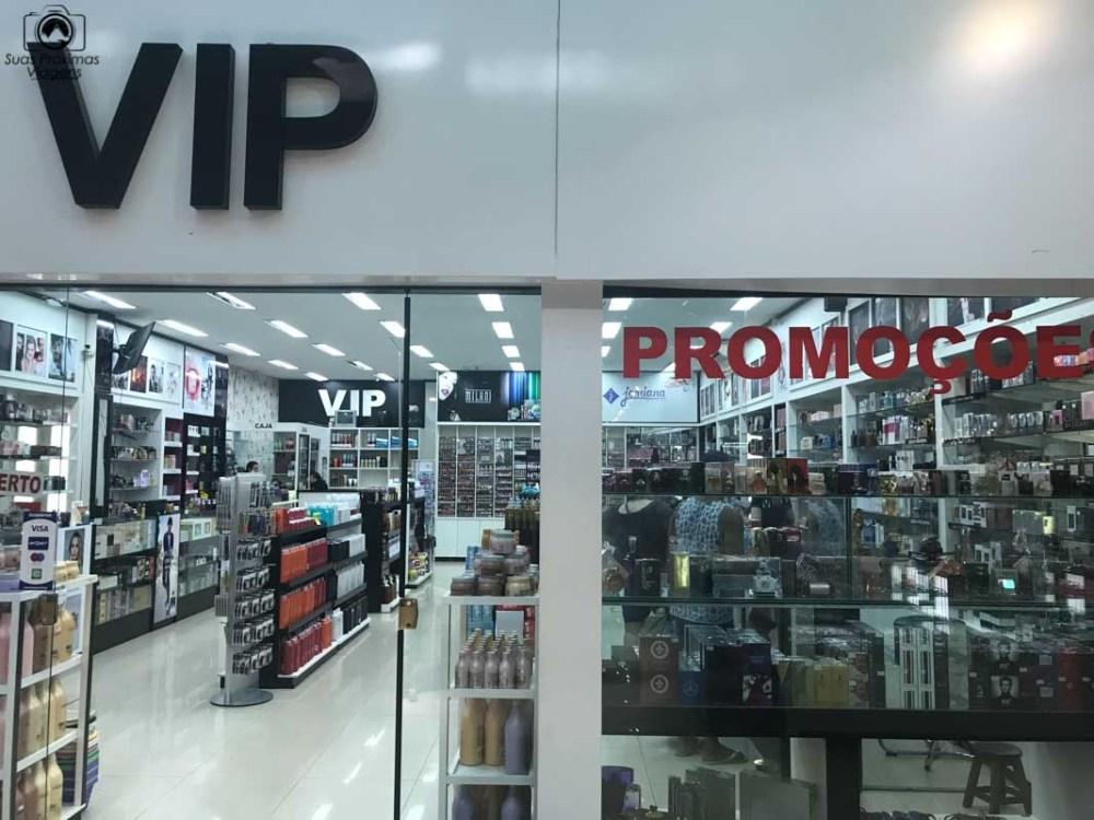 Vista da entrada da loja VIP, Shopping Del Este