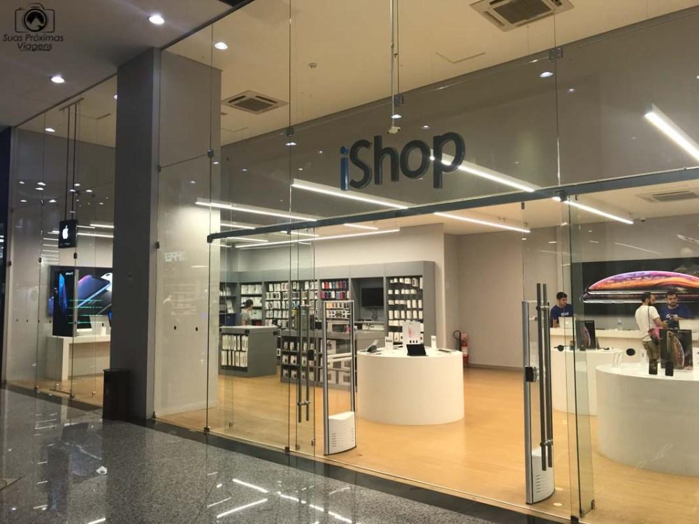 Vista da Entrada da iShop, Shopping Paris, Compras no Paraguai