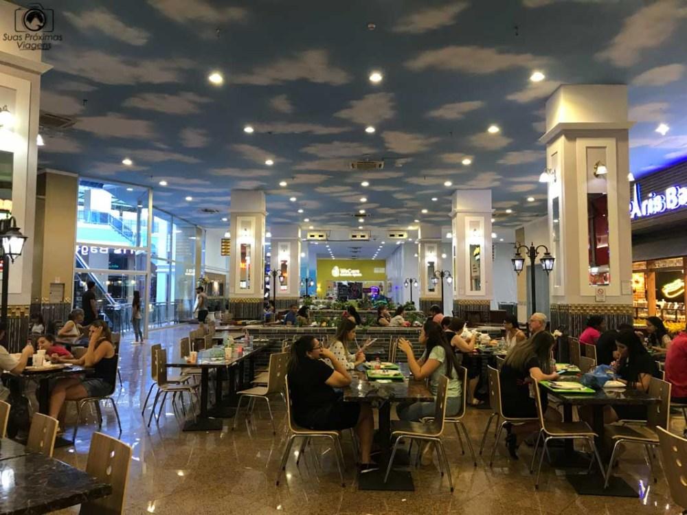 Vista da Praça de Alimentação, Shopping Paris, Compras no Paraguai