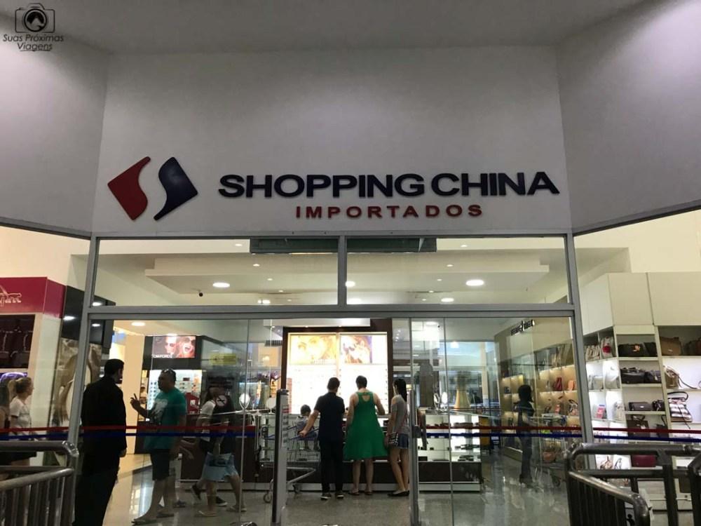 Vista da Entrada do Shopping China, Compras no Paraguai