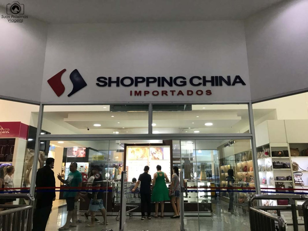 Vista da Entrada do Shopping China, Compras no Paraguai