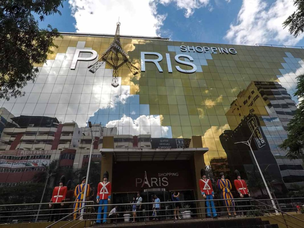 Vista da entrada do Shopping Paris, Ciudad del Este