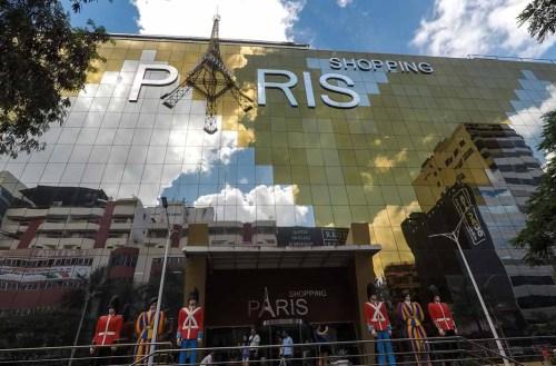 Vista da entrada do Shopping Paris, Ciudad del Este para Compras Paraguai