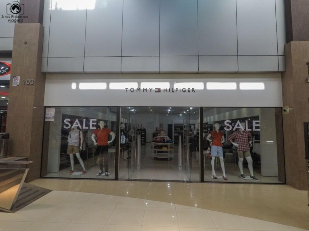 Vista da loja da Tommy Hilfiger, Shopping Del Este