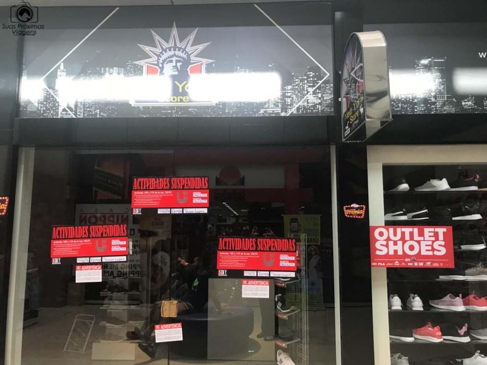 Loja fechada em shopping por não emitir notas fiscais, em Compras Paraguai