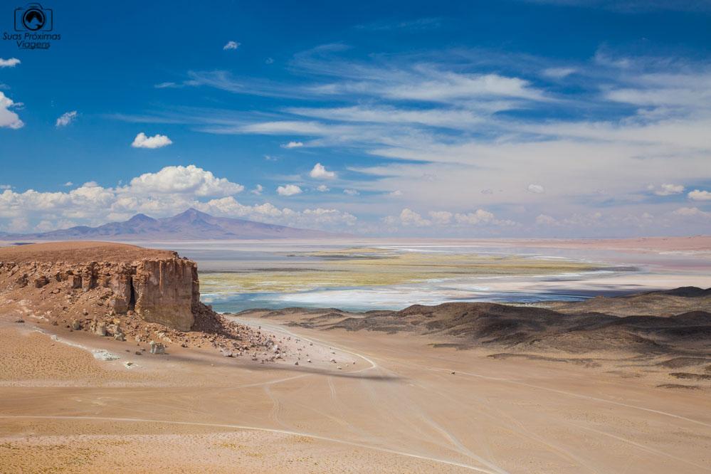 Vista do Salar de Tara em 2017 indo para o Atacama de Carro