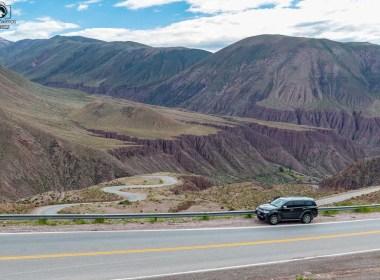 Vista do Paso de Jama indo ao Atacama de carro