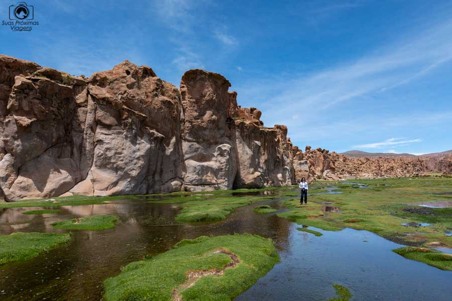 Foto da nascente da Laguna Catal na Bolivia