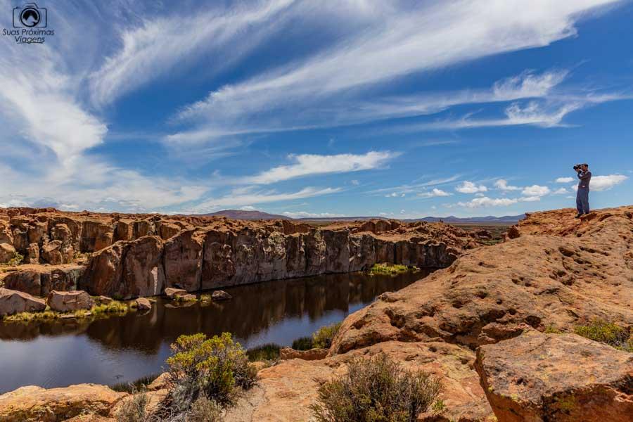 Imagem superior da Laguna Negra