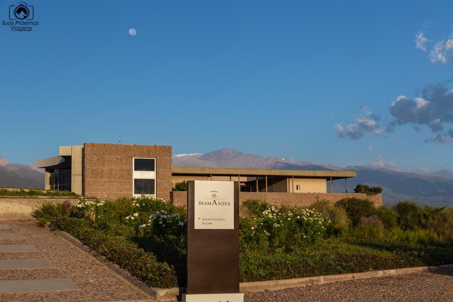Vista da Bodega DiamAndes ao amanhecer em Mendoza