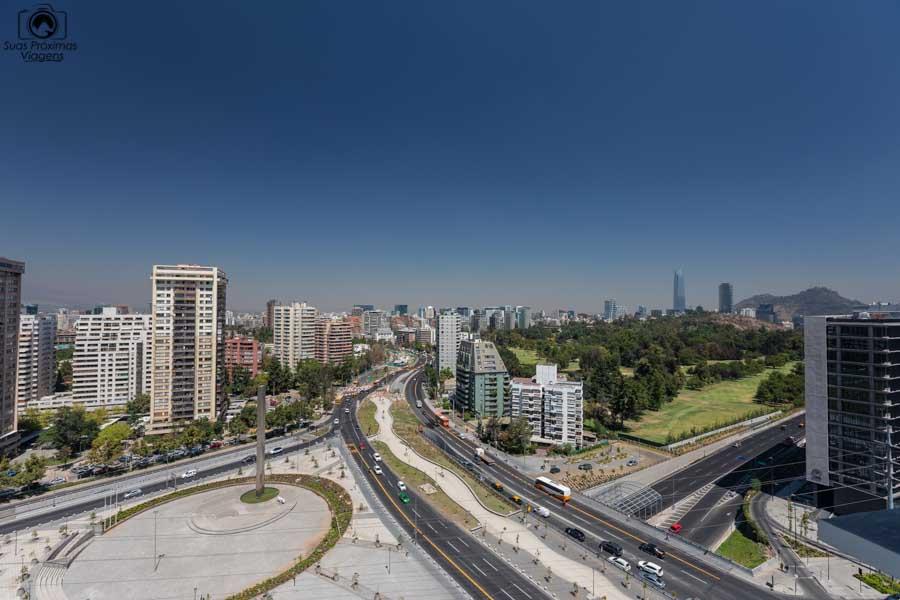 Imagem da vista do quarto do hotel Cumbres Vitacura em Santiago