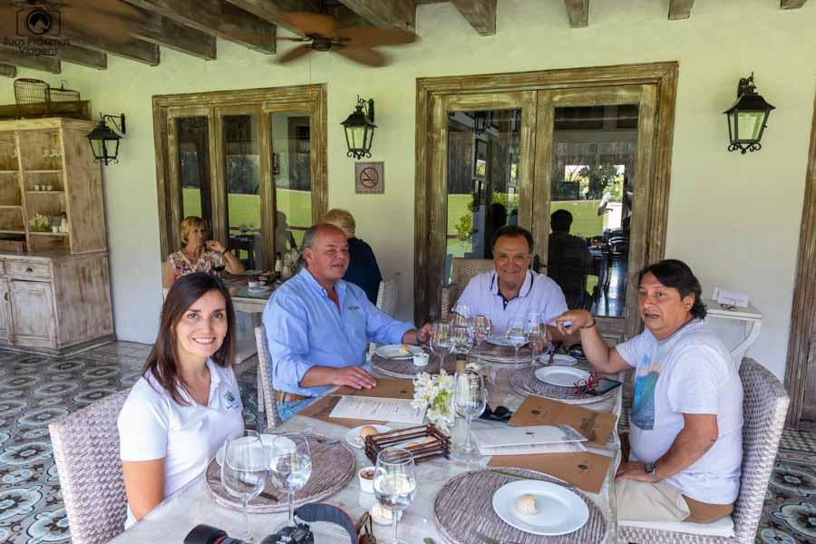 Imagem do almoço no restaurante da viña casa silva no vale do colchagua