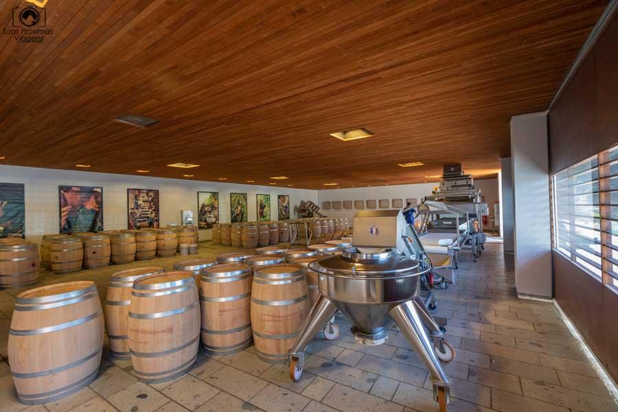 imagem da maquina de separação das uvas na clos apalta um dos melhores vinhos chilenos