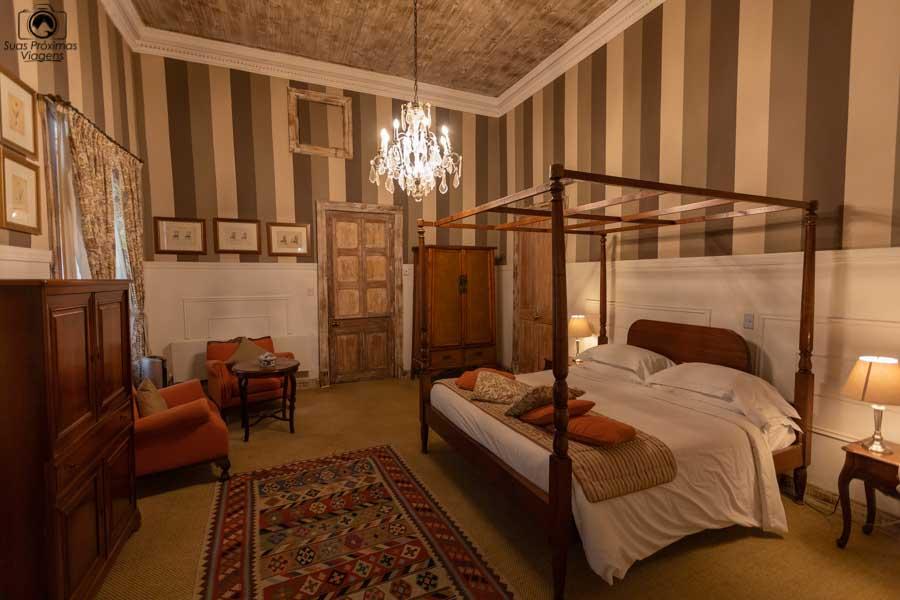 Imagem do quarto do hotel na Viña Casa Silva em Vale do Colchagua