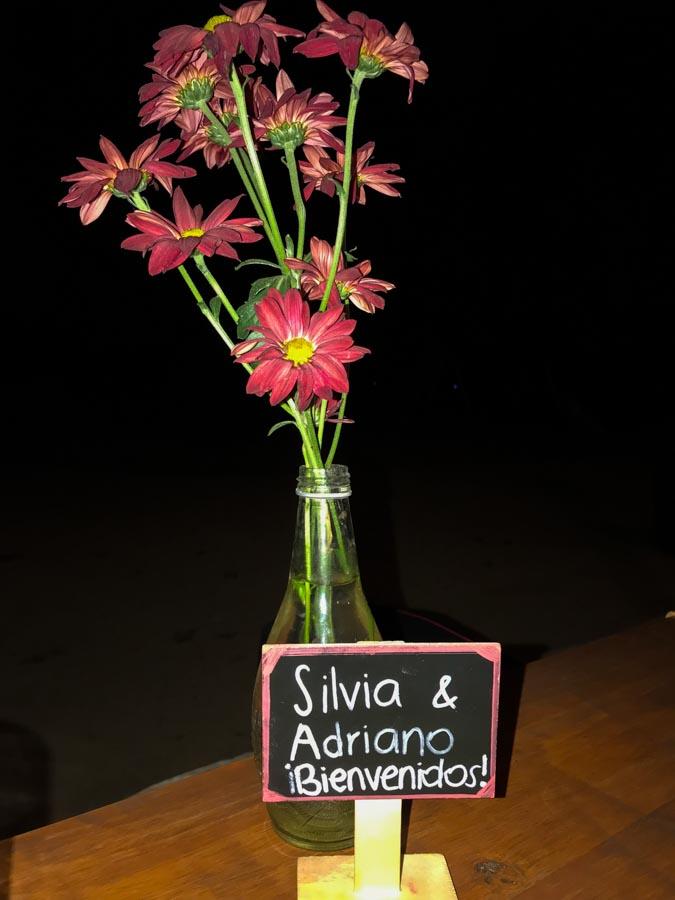 imagem da placa personalizada de boas vindas do restaurante casa colchagua