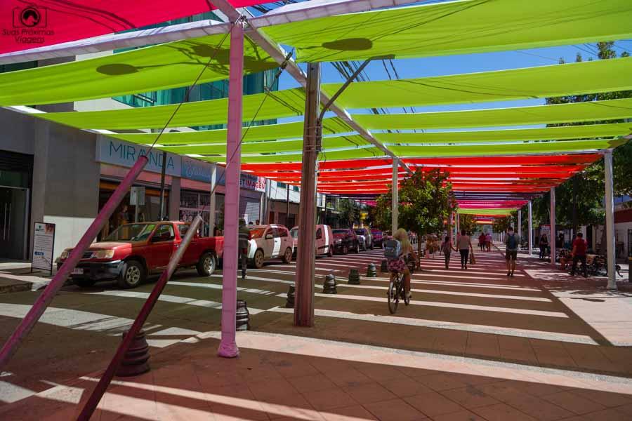 Imagem da rua de Santa Cruz durante a festa da Vendímia no Vale do Colchagua