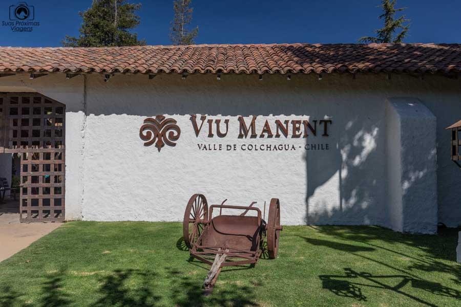 Imagem da entrada da Viña Viu Manent no vale de colchagua