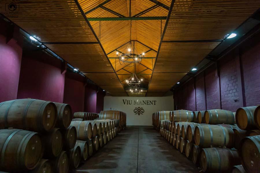 Imagem da armazenagem da viña Viu Manent em Valle de Colchagua