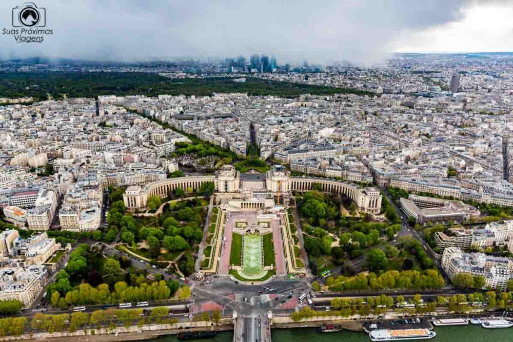 Vista do Trocadéro desde a Torre