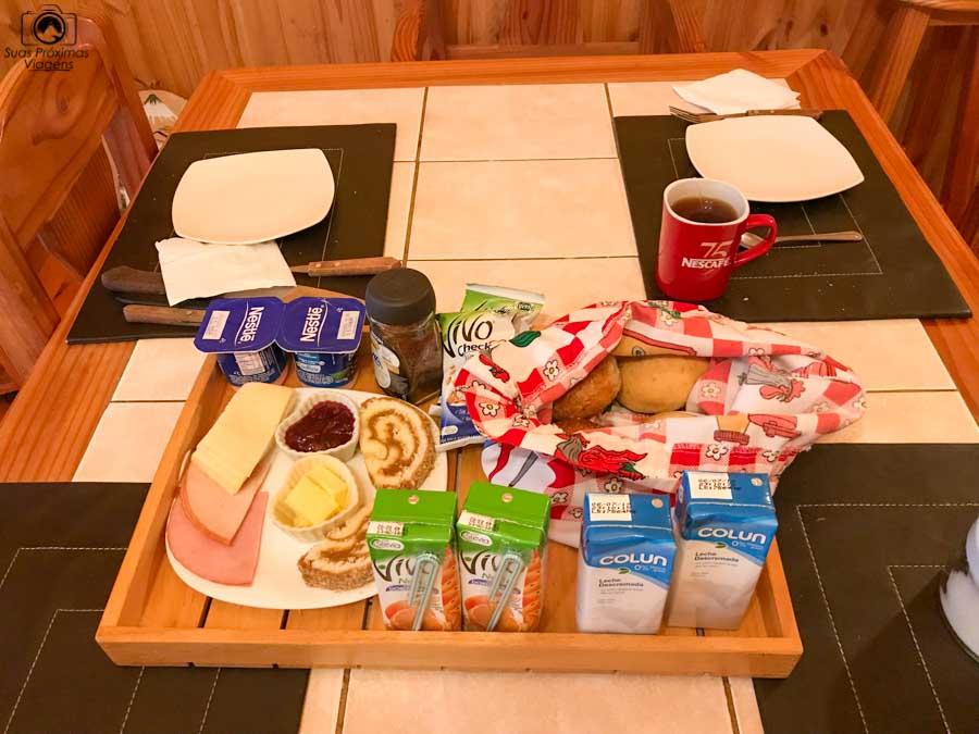 imagem do café da manhã servido no Mirador los Volcanes