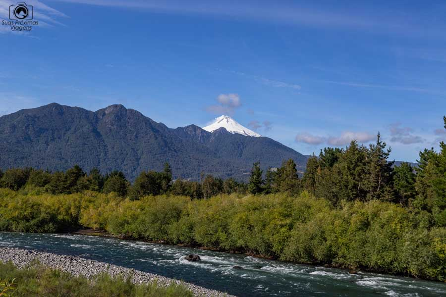 Imagem do vulcão Villarica em Pucón