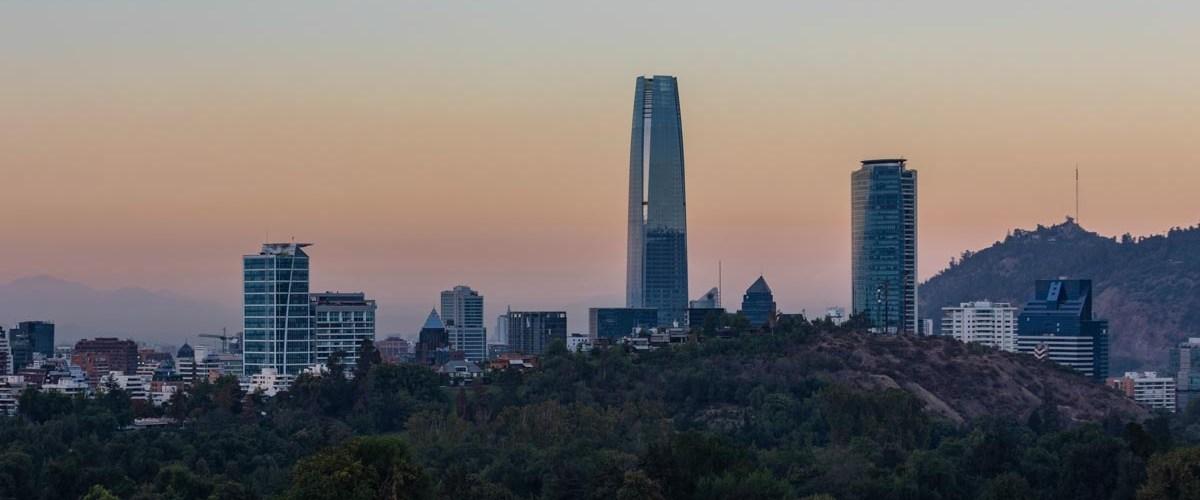 Imagem do amanhecer em Santiago
