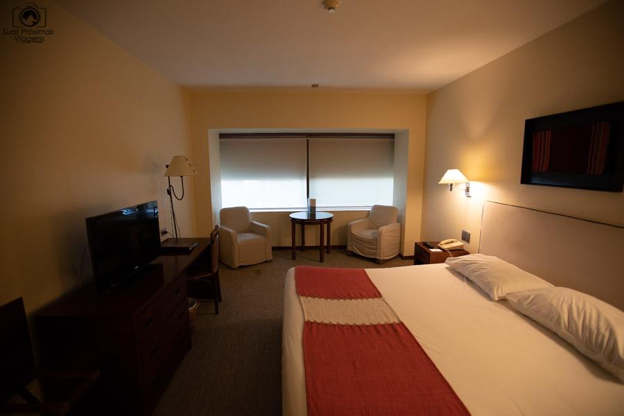 foto da suíte do Hotel Galerias