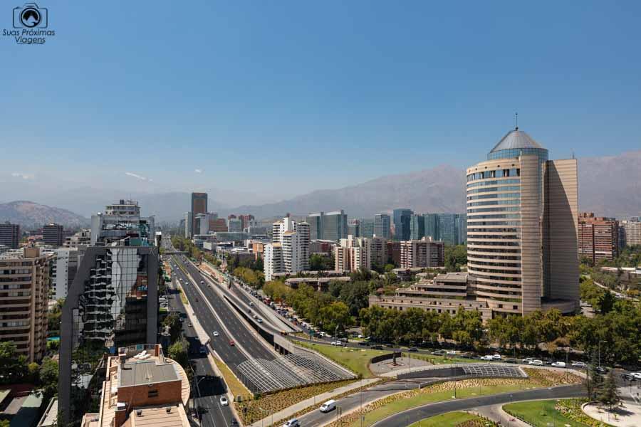 imagem da vista do hotel cumbresem onde ficar em Santiago