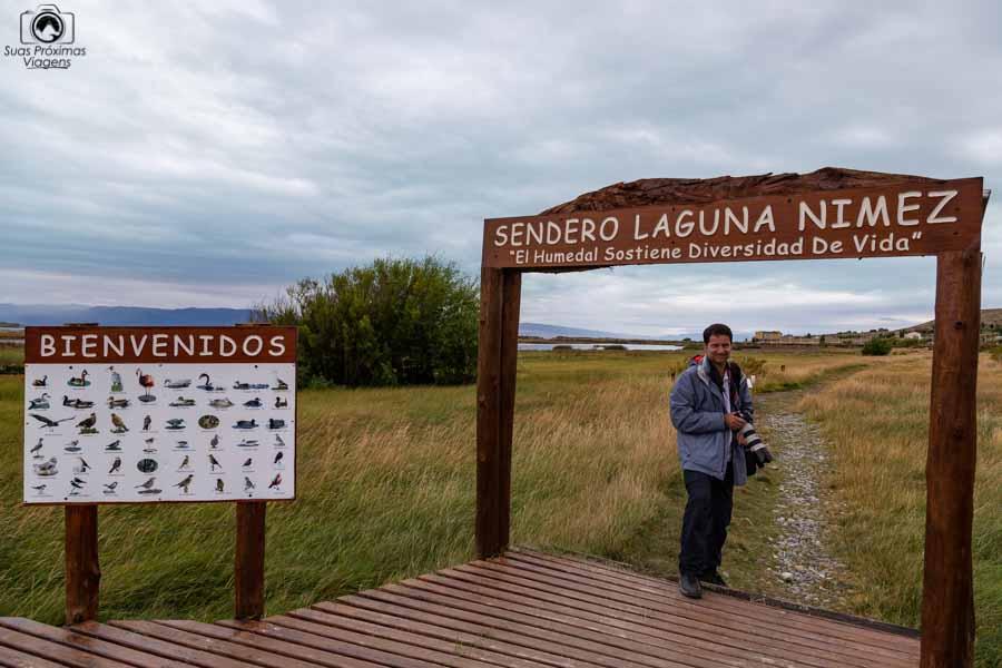Imagem da entrada da Reserva Laguna Nimez