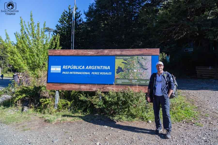 Imagem da Divisa com o Chile, próximo a Bariloche