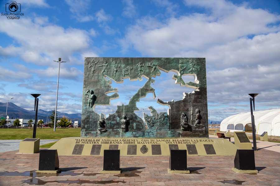 Praça em homenagem às ilhas maldivas em o que fazer em Ushuaia