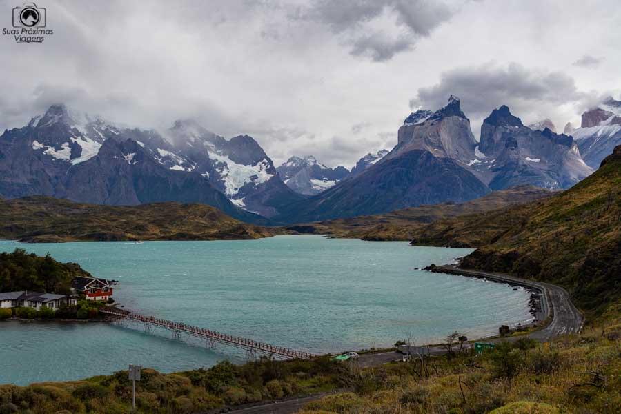 Imagem do lago Pehoé em Torres del Paine