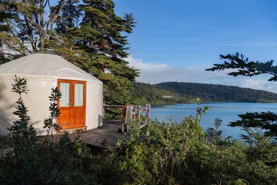 imagem do yurt no patagonia camp