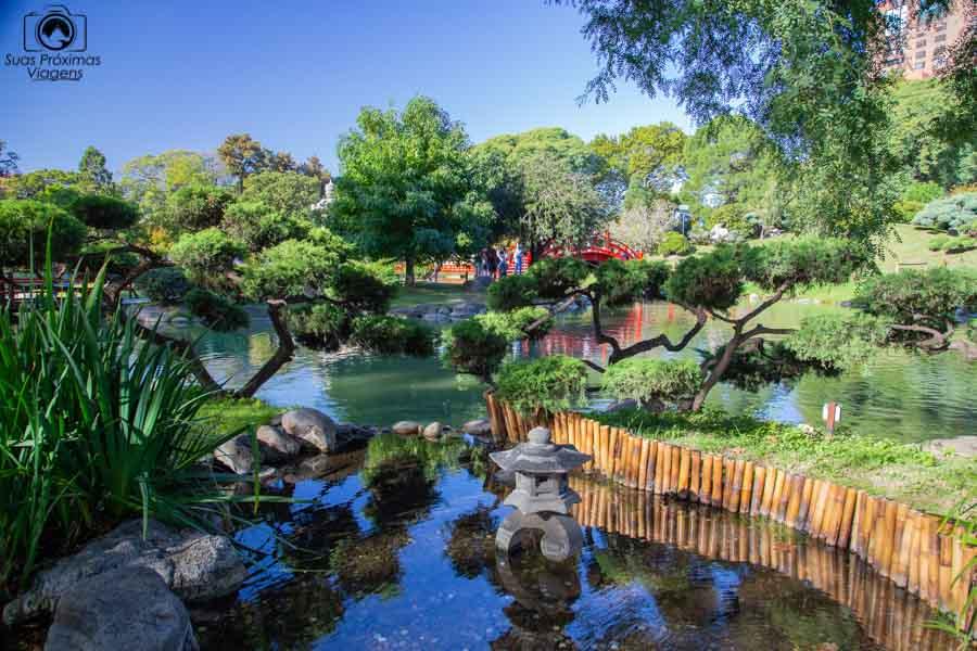 imagem do interior do jardim japonês em Buenos Aires