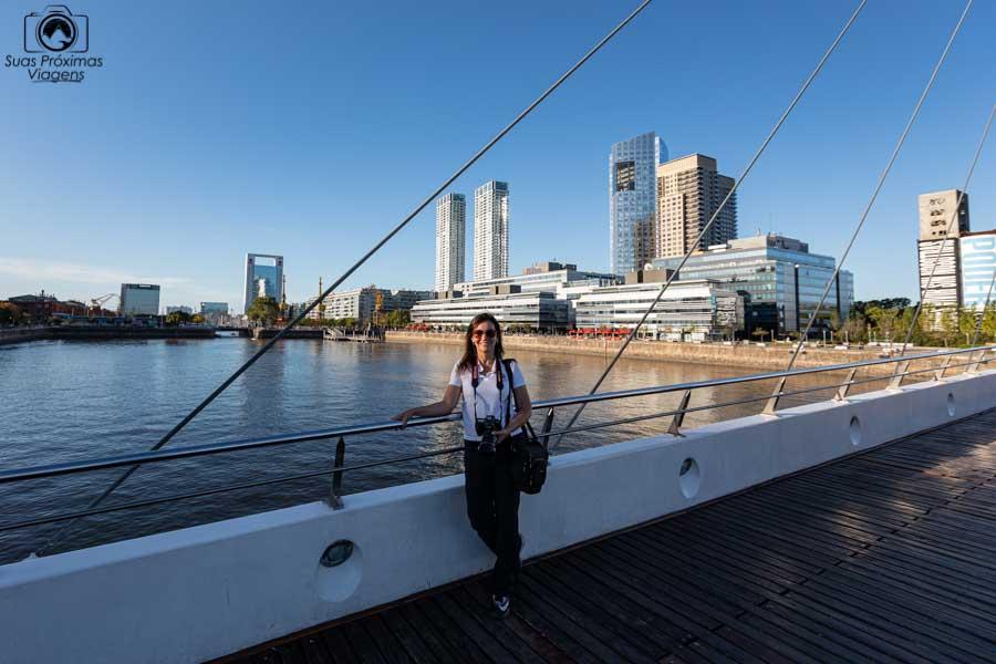 imagem desde a ponte da mulher em o que fazer em Buenos Aires