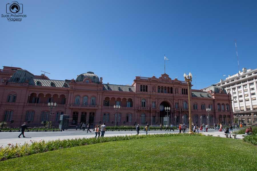 imagem da casa rosada em Buenos Aires