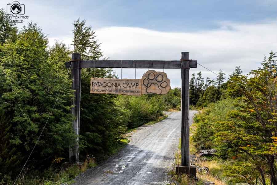 Foto da entrada do Patagonia Camp