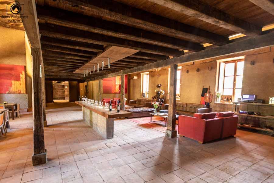 imagem do centro de visitantes da Viña Neyen