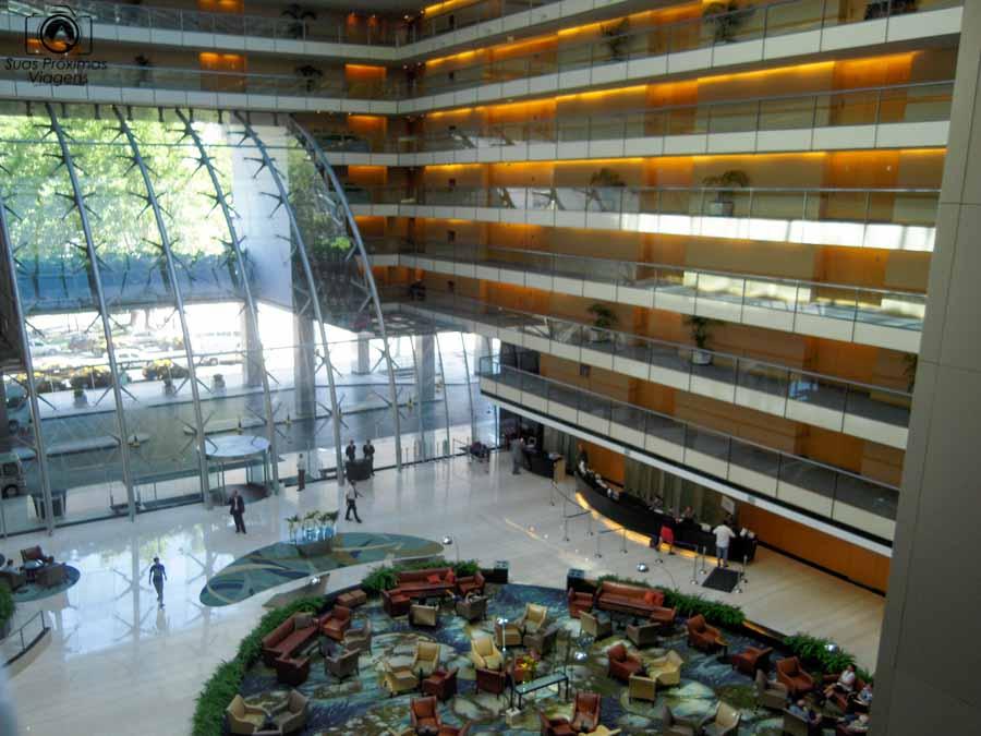 imagem do interior do Hiton Hotel em onde se hospedar em Buenos Aires
