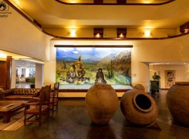 Imagem do interior do Almacruz Hotel em Santiago Chile