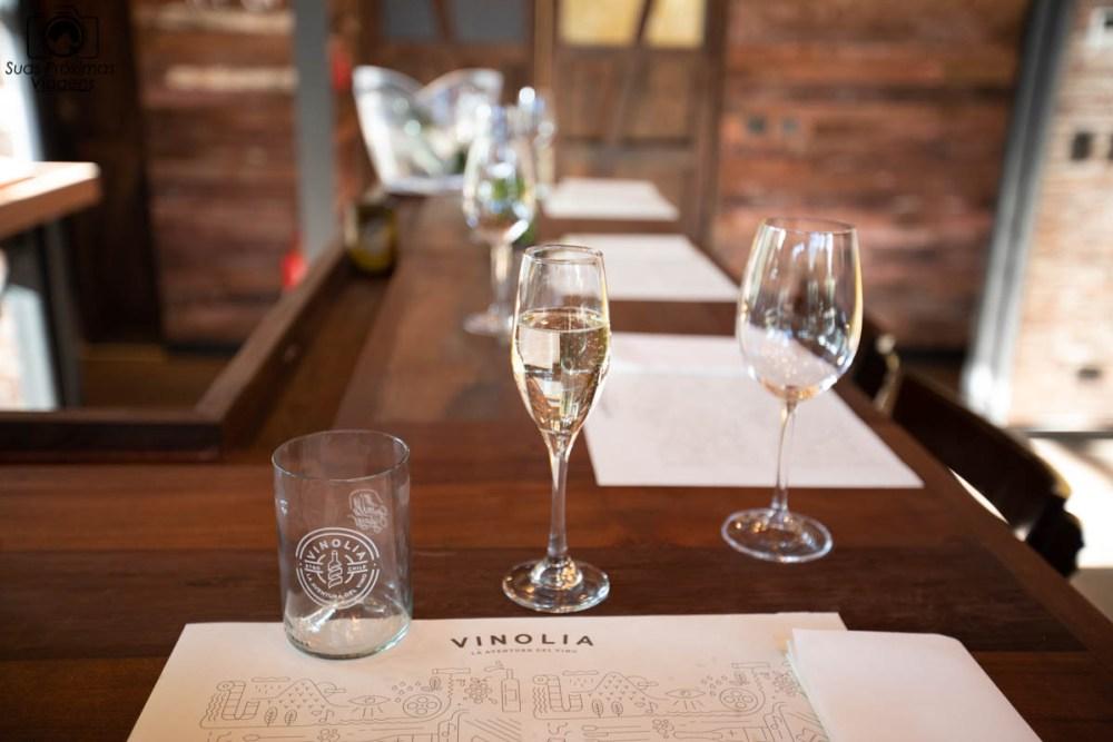 Imagem das taças de degustação da Vinolia