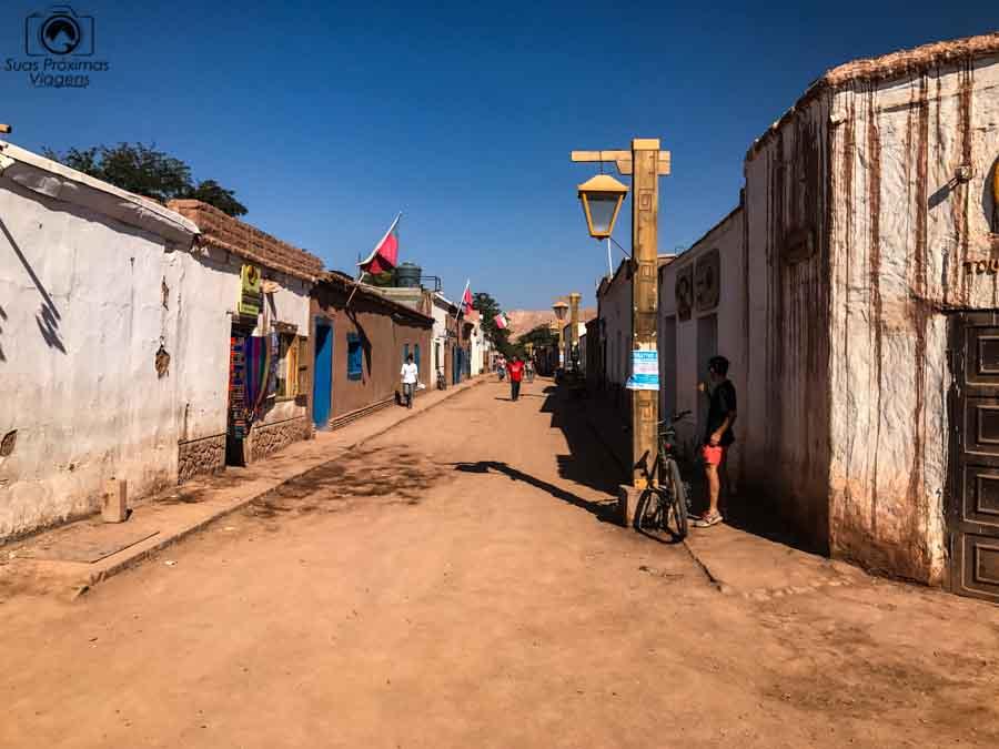 imagem da calle caracoles em San Pedro de Atacama