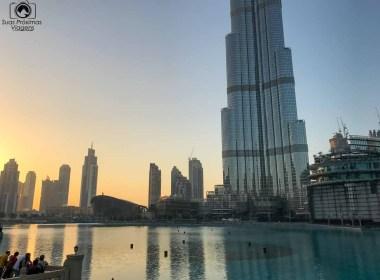 Imagem de Dubai ao entardecer