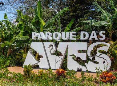 imagem da entrada do parque das aves em Foz do Iguaçu