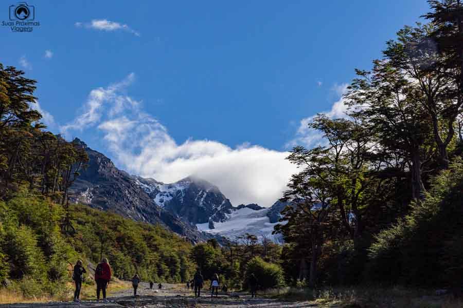 Imagem do Glaciar Martial no Passeio Mega Tour em Ushuaia.