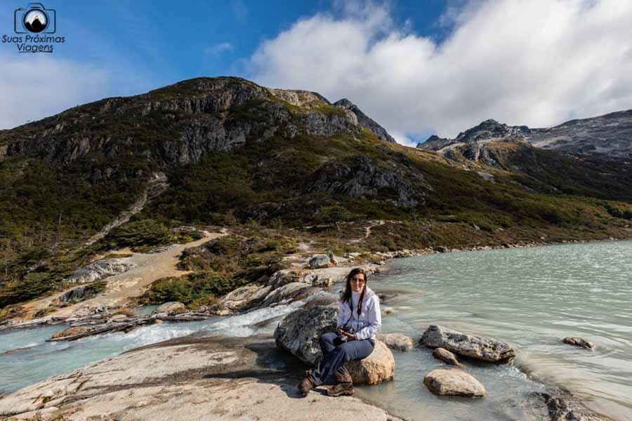 Imagem da cachoeira da Laguna Esmeralda Ushuaia