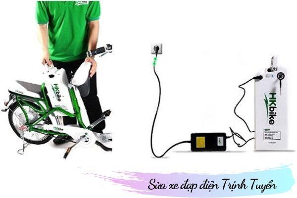 sạc xe đạp điện không vào